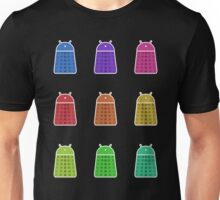 Rainbow Android Daleks Unisex T-Shirt