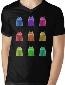 Rainbow Android Daleks Mens V-Neck T-Shirt