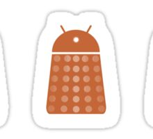 Rainbow Android Daleks Sticker