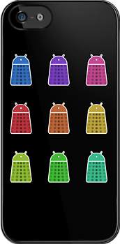 Rainbow Android Daleks by Nana Leonti