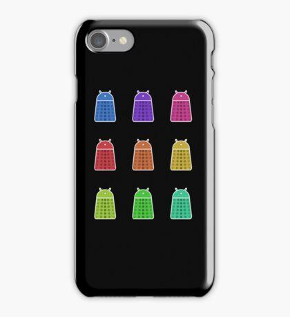 Rainbow Android Daleks iPhone Case/Skin