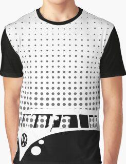 Halftone - VW Splitty Camper Van Graphic T-Shirt