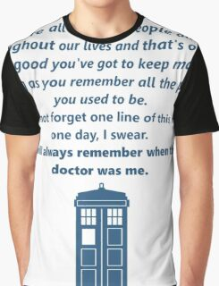 The 11th Doctor's Final Speech Graphic T-Shirt