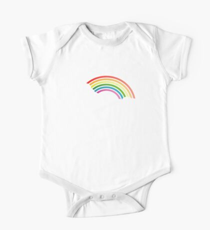 Retro 80s Rainbow One Piece - Short Sleeve