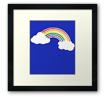 Retro 80s Rainbow Framed Print