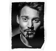 Johnny  Depp pencil drawing Poster