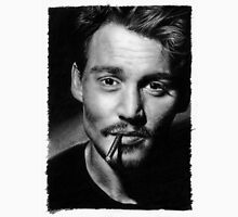 Johnny  Depp pencil drawing Unisex T-Shirt