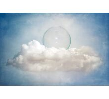 Bubble in the Clouds Photographic Print