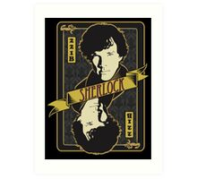221B Playing Card Art Print
