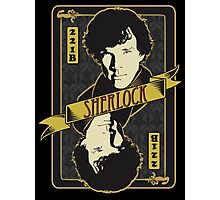 221B Playing Card Photographic Print