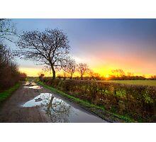 Sunrise At The Farm Photographic Print