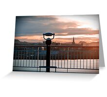 Trondheim, The View. Greeting Card