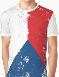 Flag of Czech Republic Graphic T-Shirt