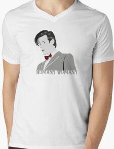 Humany Wumany Mens V-Neck T-Shirt