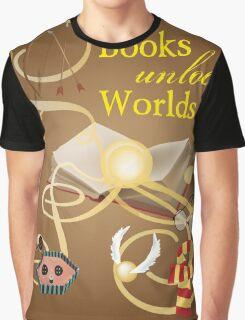 Books Unlock Worlds Graphic T-Shirt