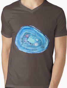 Blue Agate Mens V-Neck T-Shirt