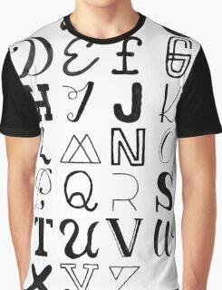 Alphabet Typography Graphic T-Shirt
