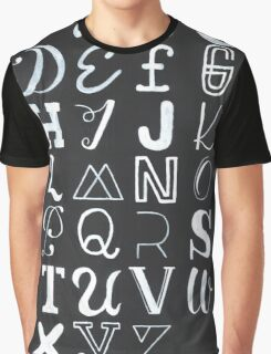 Alphabet typography Graphic T-Shirt