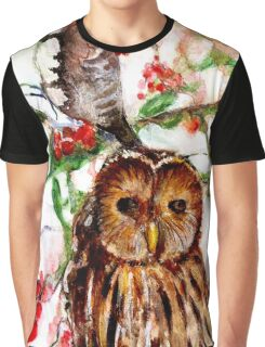 Owl in the Snow Graphic T-Shirt