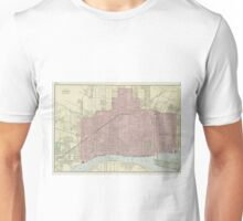Vintage Map of Detroit Michigan (1901) Unisex T-Shirt