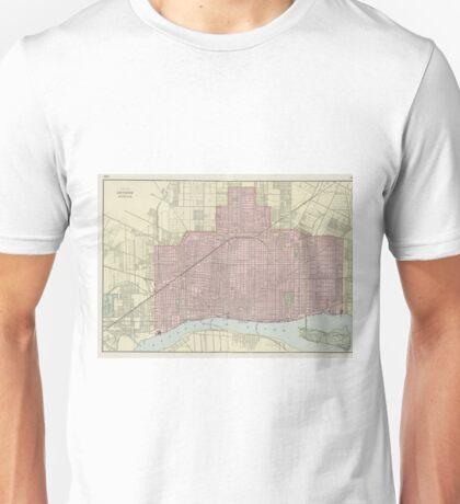 Vintage Map of Detroit Michigan (1901) Unisex T-Shirt
