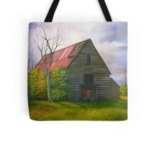 Red Roofed Barn in Georgia, Hwy 53 Tote Bag