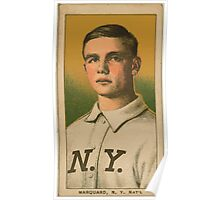 Benjamin K Edwards Collection Rube Marquard New York Giants baseball card portrait 002 Poster