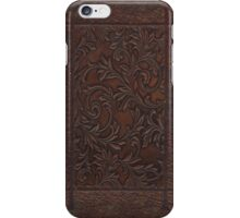 Leather Embossed Floral iPhone Case/Skin