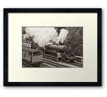 Leaving Goathland Station Framed Print