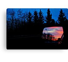 Sun Rising in my Rear View - Alberta Canada Canvas Print