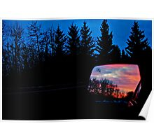 Sun Rising in my Rear View - Alberta Canada Poster