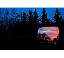 Sun Rising in my Rear View - Alberta Canada Photographic Print