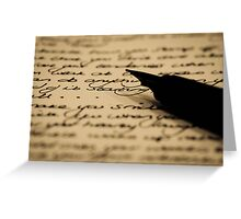 Words and Ink Greeting Card