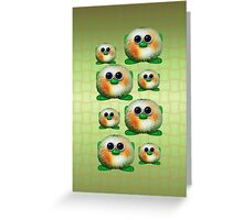 Green Fuzzy Aliens Greeting Card