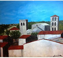 View from the kitchen in Caunes-Minervois Photographic Print