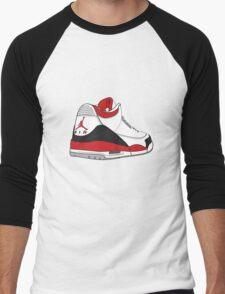 Fire Red 3's Men's Baseball ¾ T-Shirt