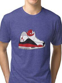 Fire Red 3's Tri-blend T-Shirt
