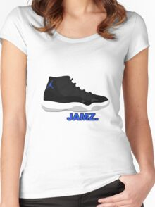 Space Jamz. Women's Fitted Scoop T-Shirt