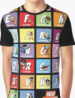 Justice League of Alphabet Graphic T-Shirt