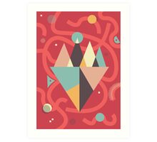 Mountains Floating in a Busy Space Art Print