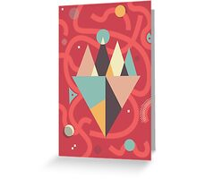 Mountains Floating in a Busy Space Greeting Card