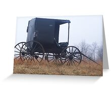 Lone Amish buggy Greeting Card