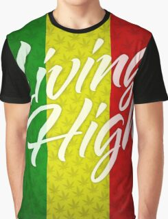 Living High Typography (Light) Graphic T-Shirt