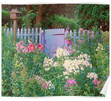 Cottage Garden Gate Poster