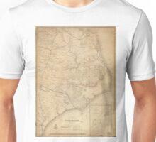 Vintage Map of Eastern North Carolina (1862) Unisex T-Shirt
