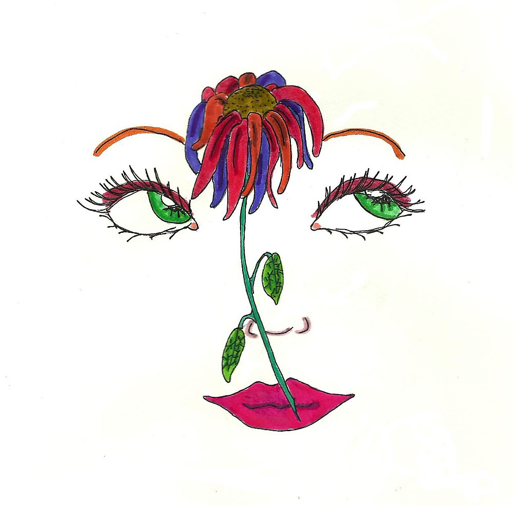 Flower Face by Ashley Riemer