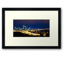 perth. night view Framed Print