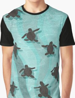Loggerhead Sea Turtle Hatchlings Graphic T-Shirt