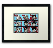 The Zombie Bunch Framed Print