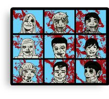 The Zombie Bunch Canvas Print